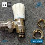 Válvula do radiador de latão niquelado 1/2''-1''polegada com certificado CE