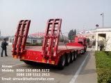 中国60トンの三車軸重い輸送低いBed トラックのトレーラー