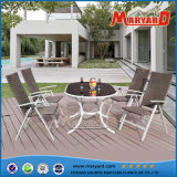 Dining esterno Table e Chairs Folding Rattan Furniture