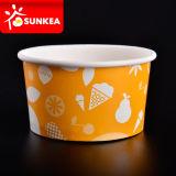 Tazas de papel impresas del yogurt congelado 8 onzas
