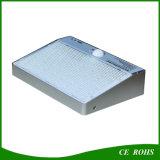 Lâmpada solar branca de alumínio durável do jardim 48LED da carcaça 600lm com Ce RoHS aprovado