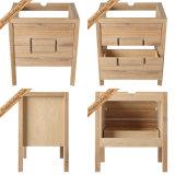 Alimentados-312 30 Polegadas Borracha moderno acabamento em madeira vaidades Banheiro Armários de banheiro