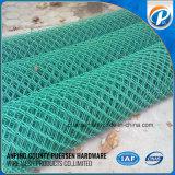 Frontière de sécurité enduite de maillon de chaîne de PVC