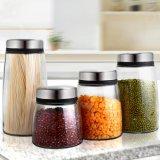 O armazenamento das grões enlata recipientes de vidro selados alimento das latas da cozinha