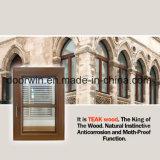 Los Estados Unidos California revestido de madera de teca de clientes salto térmico de la ventana de aluminio