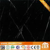 Super Black Gloosy pulido porcelana puro negro azulejos (JRM01B)