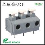 Blocos de terminais de PCB de série de 7,5 mm de 7,5 mm com único furo