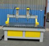 El husillo doble tallado en madera maquinaria CNC