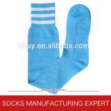 Calzini a strisce di gioco del calcio del nylon lungo (UBUY-081)