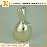 現代電気めっきの金の磁器のウサギ