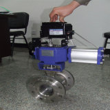 Robinet à tournant sphérique réglementaire pneumatique de V-Port pour pour le support qui particules solides