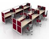 Hölzerner 2 Seater Büro-Arbeitsplatz-kleine Zelle der hohe Wand-Möbel-