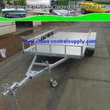 Fabricante /Factory de Alimentação do Freio Hidráulico do Carro 4.0X1.8m galvanizado trailer do transportador (CCT010B)