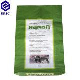 Sacos tecidos PP do saco com a película quadrada da parte inferior & do resíduo metálico