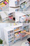 Gaveta de armazenamento de combinação empilháveis Caixa de plástico do Organizador