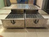 Grande cassetta portautensili di alluminio del rimorchio dei due cassetti