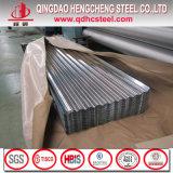 Lamiera di acciaio ondulata del tetto rivestito dello zinco del TUFFO caldo