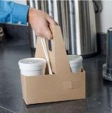 Держатель кофейной чашки бумаги Kraft фабрики изготовленный на заказ оптовый дешевый пустой