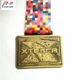 2018 Custom Loja Medalha de metal com fita no Blue