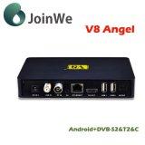 V-8 Angelandroid 4.4 IPTV+DVB-S2/T2/C 최고 HD 인공 위성 수신 장치