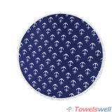 Напечатанное полотенце пляжа круга Microfiber с Tassels