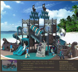 Kaiqi Large Pirate Ship Themed Children's Playground avec diapositives (KQ50052A)
