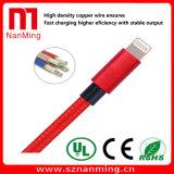 Maschio del USB al cavo di sincronizzazione di carico/dati del maschio del USB del lampo--Rosso