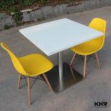 白2のSeaterの正方形の固体表面のレストランのダイニングテーブル