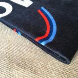 Van het Katoenen van 100% de Handdoek van het Strand Fluweel van Sporten