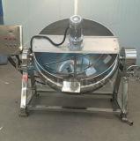 Sopa industrial del vapor del acero inoxidable que cocina la caldera vestida con el mezclador (ACE-JCG-063174)