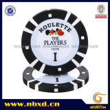 8g 2color Pure Clay Poker Chip mit Customize Sticker