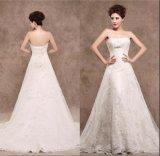 Uma linha vestido de casamento nupcial Xz1521 do laço