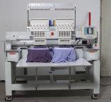 2台のヘッドフラットキャップのJukiの刺繍機械