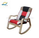 Mobiliário de casa confortável cadeira de balanço da estrutura de madeira