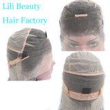 Lili la belleza plena encaje peluca de pelo humano con el cabello del bebé Ombre 1b gris Cabello pelucas de encaje