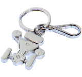 Corrente chave personalizada do metal da forma com logotipo