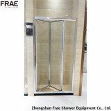 Portello scorrevole dell'acquazzone del portello dello schermo della stanza da bagno della mobilia dell'acquazzone Bi-Fold della stanza da bagno