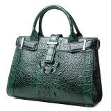 熱い販売のブランドデザイン緑のわに皮の革ハンド・バッグはとの証明書を引用する