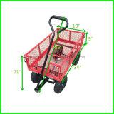 Wheelbarrow resistente do serviço público do portador do vagão do descarregador do carro da descarga do jardim