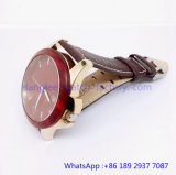 Top-Quality Stainless и Wood Quartz Watches Water Resistant Hlja-15059