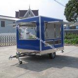 販売のための安い移動式販売のコーヒーカートのホットドッグのカートそしてクレープのカート