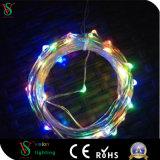 de Flexibele MiniDraad van het Koord van de Draad van het Koper 10m/100 LEDs Lichte Zilveren
