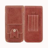 Bolsillo de cuero de la cintura de la caja de la correa de la bolsa de Smartphone del bolso de la pistolera del teléfono celular de la PU para el iPhone