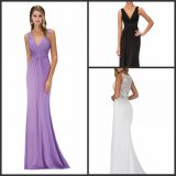 Parte sem mangas Prom Robes Formal Cordão Lace Bridesmaid vestido de noite G11377