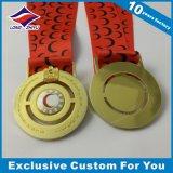 Medalla de bronce única de la plata del oro de la medalla de los deportes