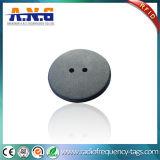 860-960MHz 2개의 구멍에 방진 빨 수 있는 RFID 세탁물 꼬리표 공백