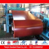 Bobine enduite d'une première couche de peinture rouge PPGL de Ral 3027 Raspbery Gl