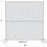 بناء ييصفّي أنابيب ([38مّ]) [إكس] [15.5غ/1.70مّ] جدار سميك كبّل شبكة [50مّ] [إكس6'إكس10'] مؤقّت [شين لينك] سياج
