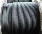 Черная веревочка стального провода 19X7