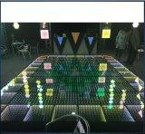 3D het Dansen van het Kloof van de Spiegel Magische LEIDEN van het Comité Door sterren verlicht Dance Floor voor de Gebeurtenissen van het Huwelijk van de Partij van het Stadium toont